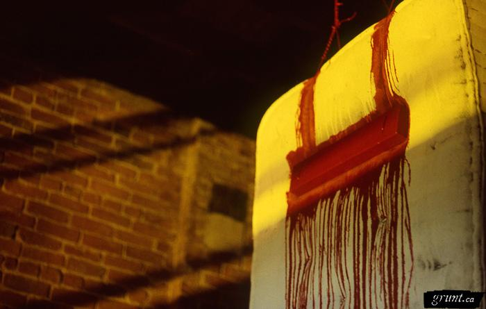 mattress_Ahasiw_Maskegon_Iskwew_colour_slide_s049_close_up_red_drips_top
